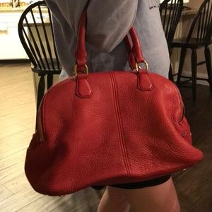 Red J. Crew satchel